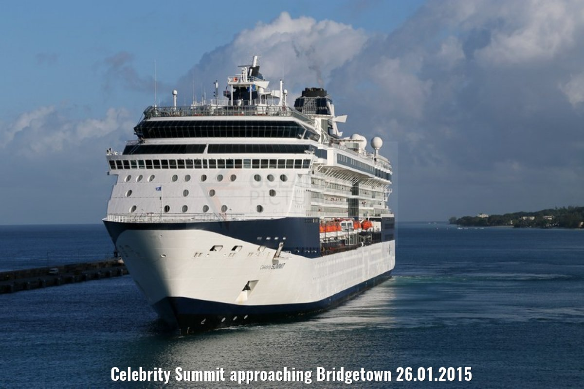 Celebrity Summit approaching Bridgetown 26.01.2015