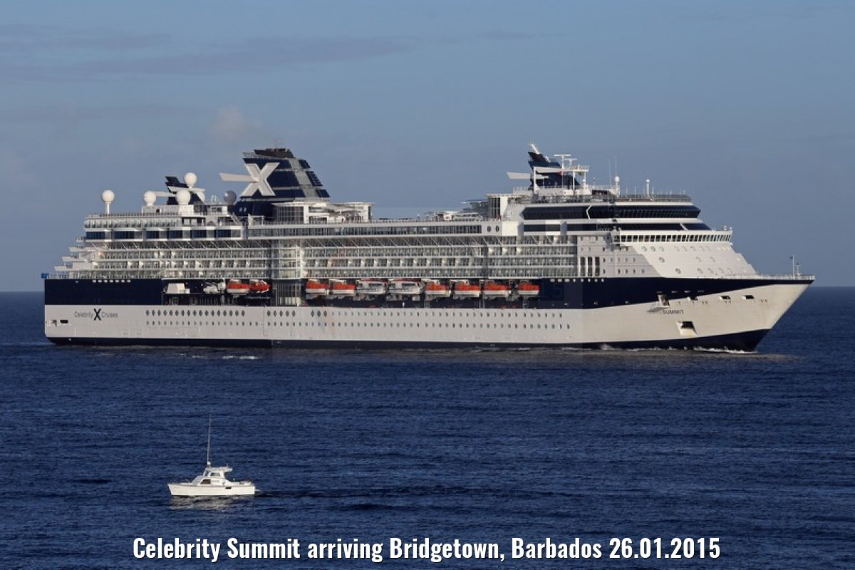 Celebrity Summit arriving Bridgetown, Barbados 26.01.2015