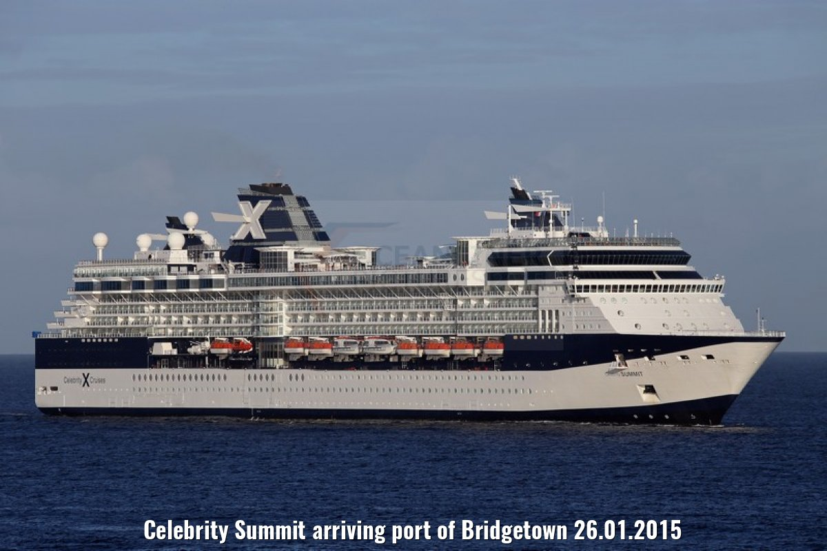 Celebrity Summit arriving port of Bridgetown 26.01.2015