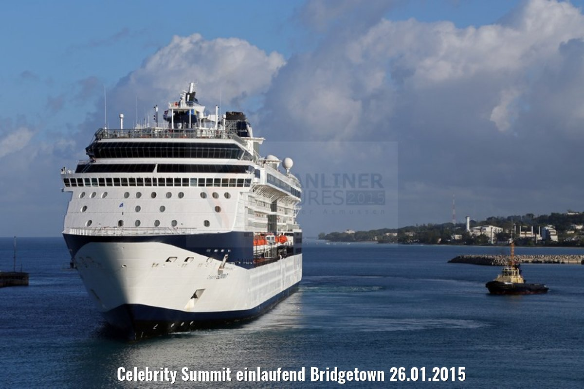 Celebrity Summit einlaufend Bridgetown 26.01.2015