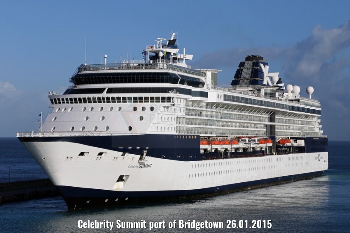 Celebrity Summit port of Bridgetown 26.01.2015