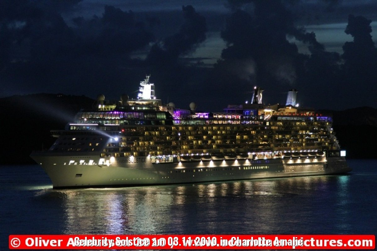 Celebrity Solstice am 03.11.2010 in Charlotte Amalie