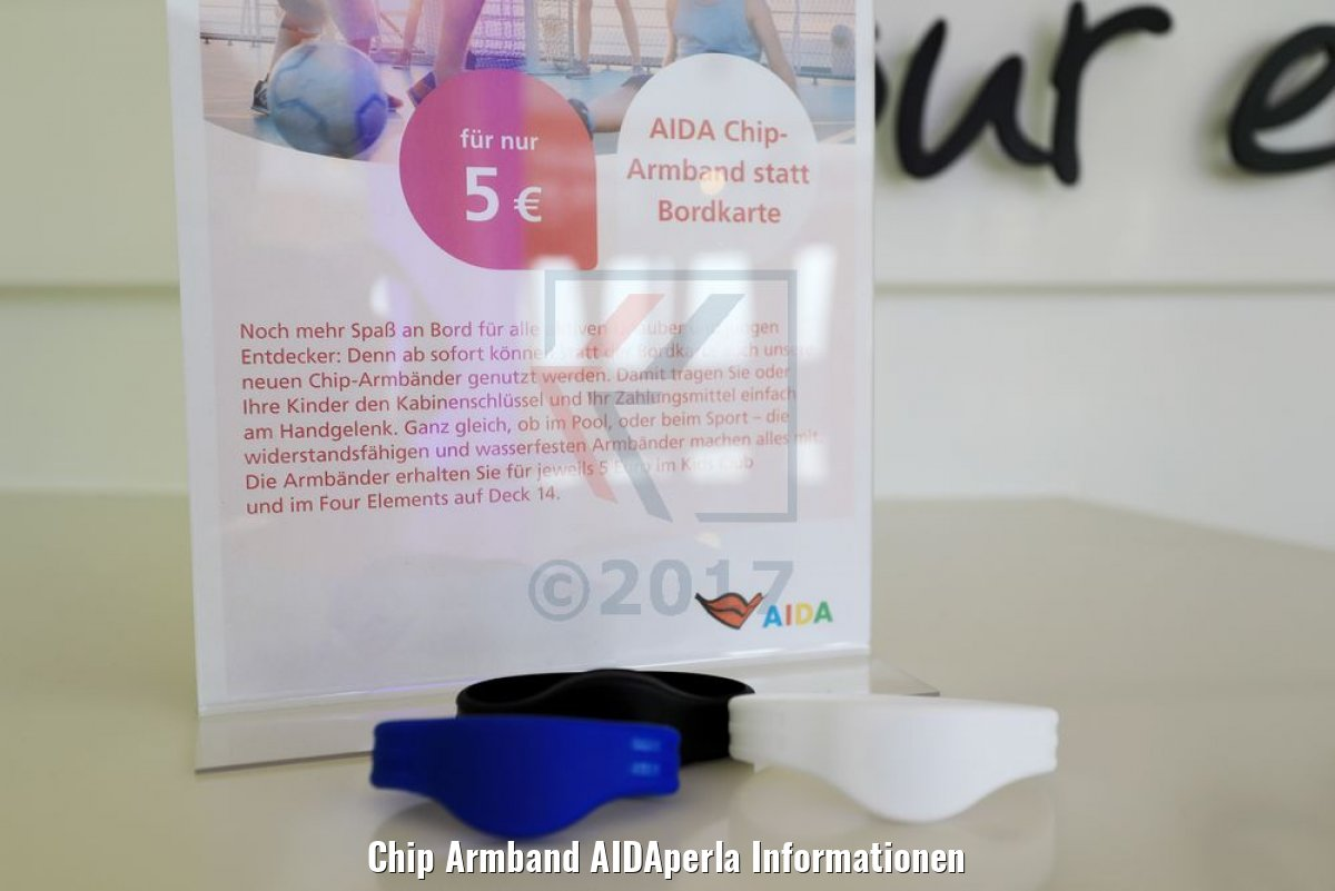 Chip Armband AIDAperla Informationen