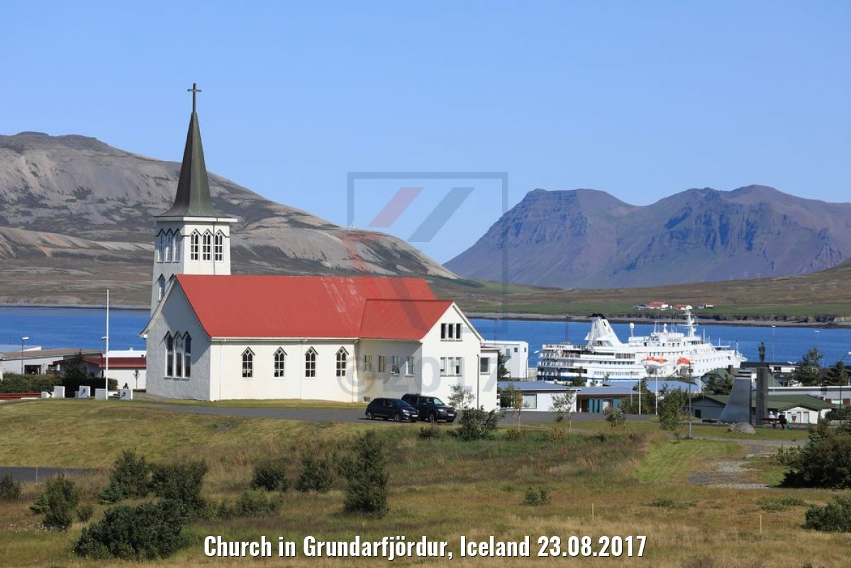 Church in Grundarfjördur, Iceland 23.08.2017