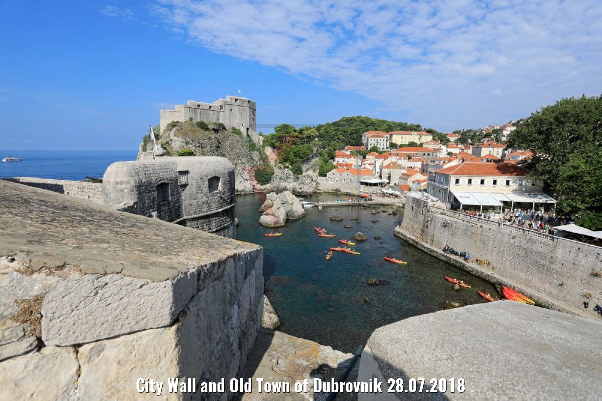 City Wall and Old Town of Dubrovnik 28.07.2018