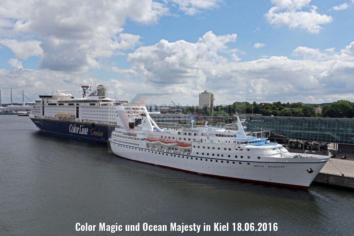 Color Magic und Ocean Majesty in Kiel 18.06.2016