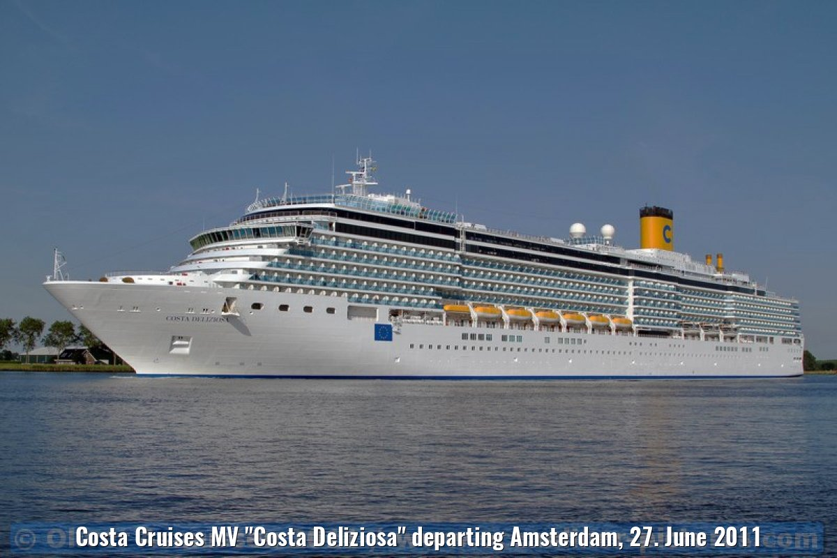 "Costa Cruises MV ""Costa Deliziosa"" departing Amsterdam, 27. June 2011"