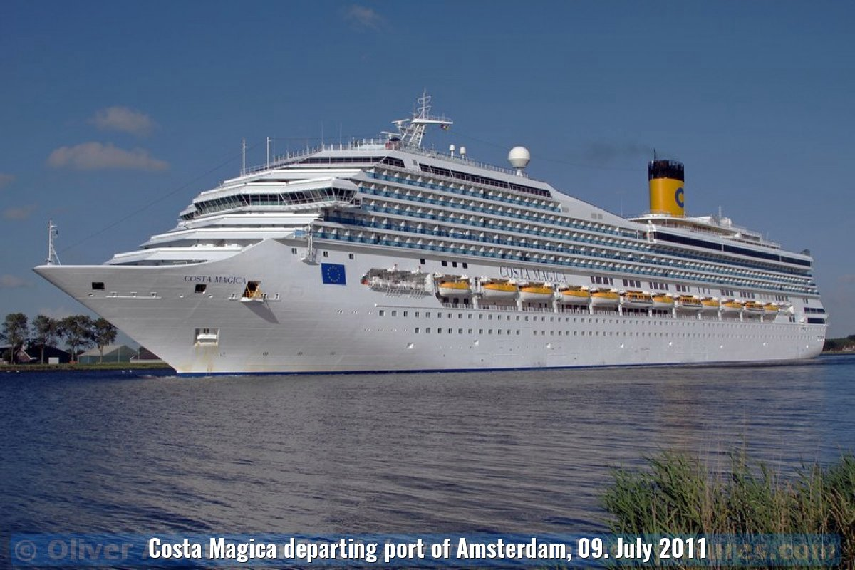 Costa Magica departing port of Amsterdam, 09. July 2011