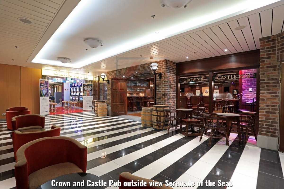 Crown and Castle Pub outside view Serenade of the Seas