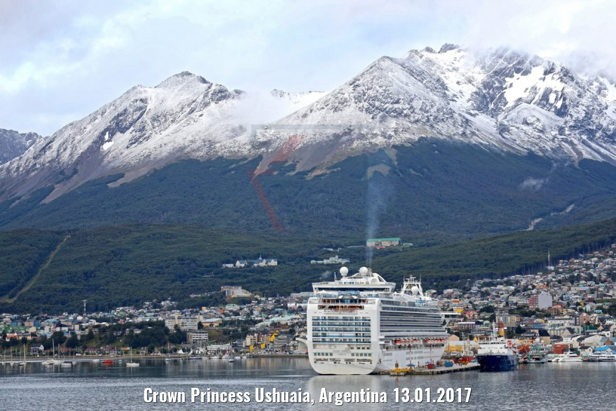 Crown Princess Ushuaia, Argentina 13.01.2017