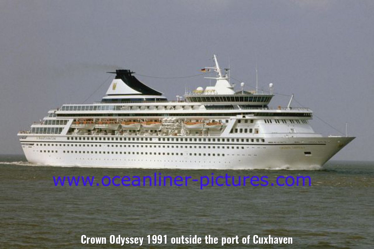 Crown Odyssey 1991 outside the port of Cuxhaven