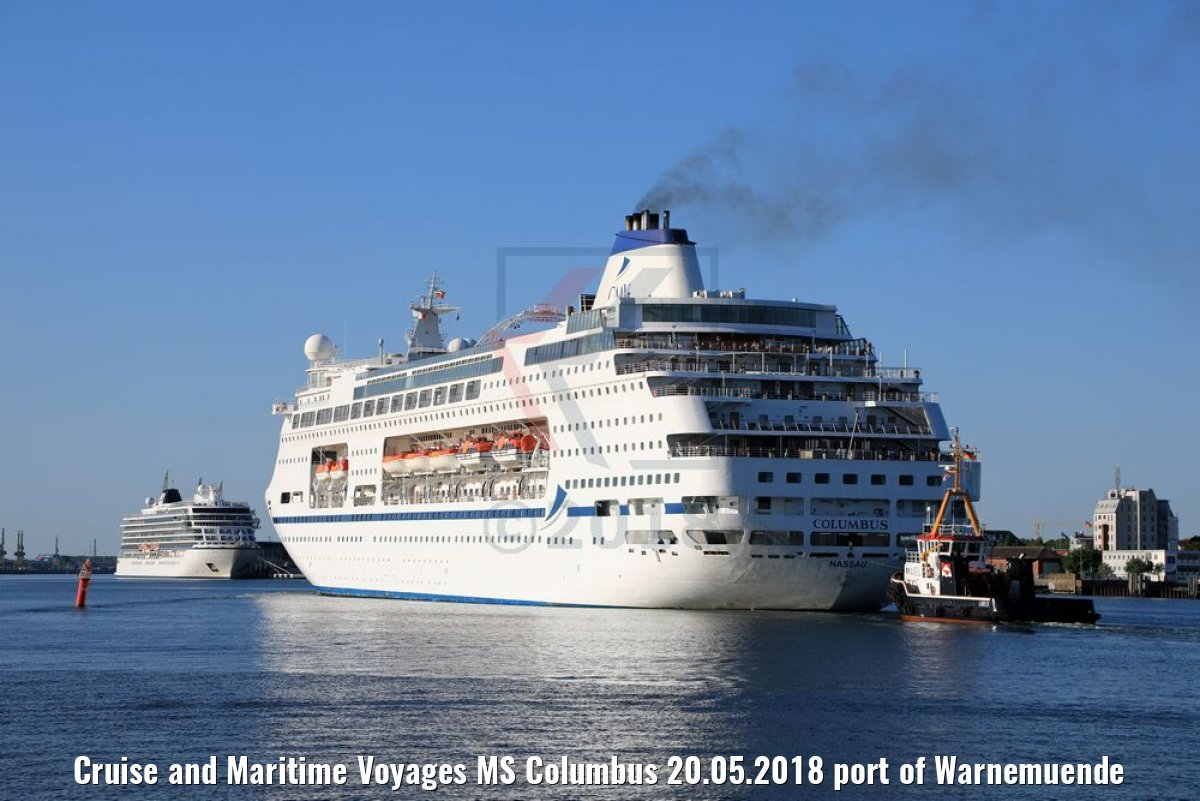 Cruise and Maritime Voyages MS Columbus 20.05.2018 port of Warnemuende