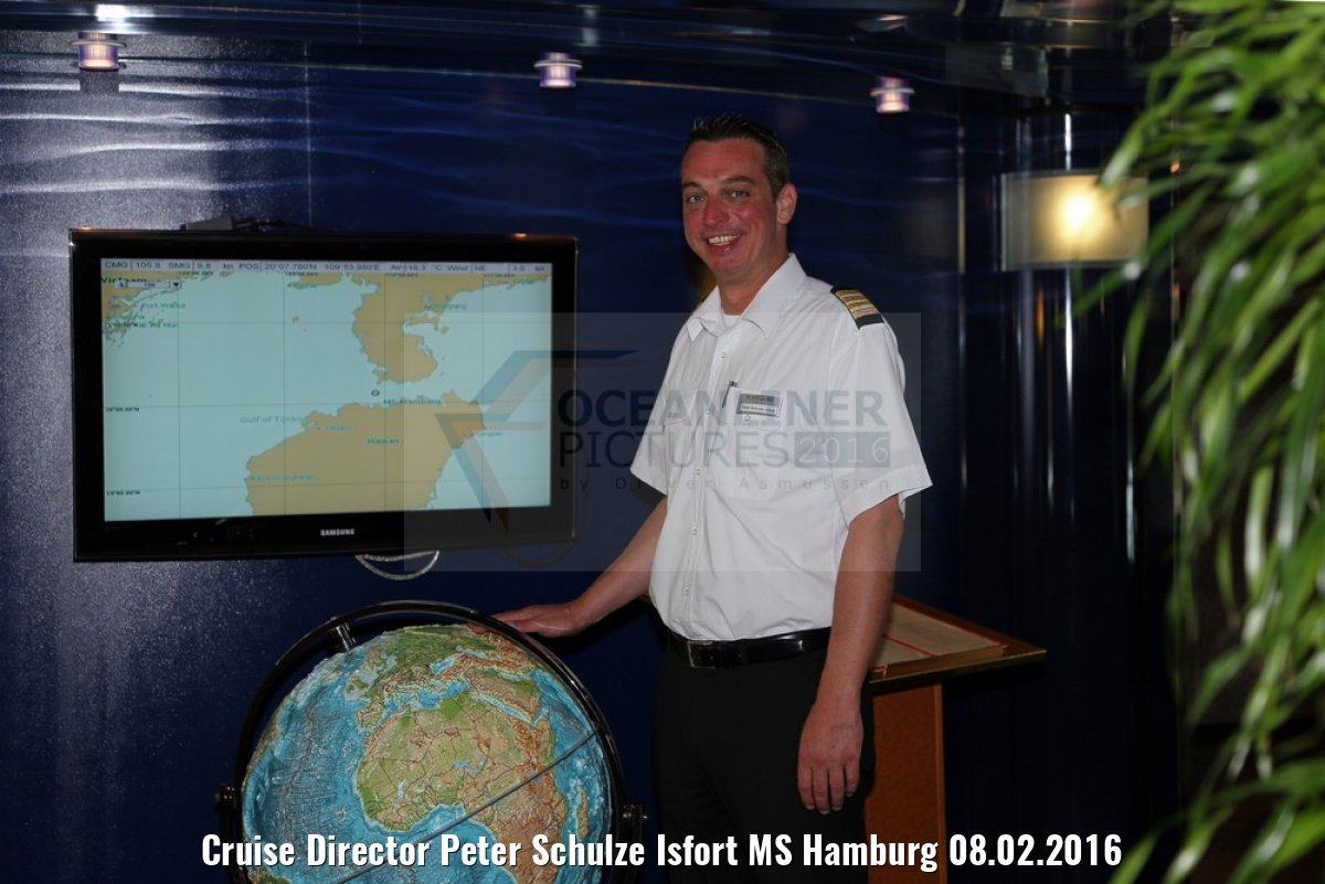 Cruise Director Peter Schulze Isfort MS Hamburg 08.02.2016