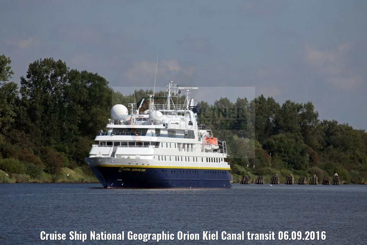 Cruise Ship National Geographic Orion Kiel Canal transit 06.09.2016