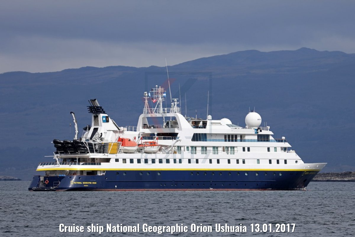 Cruise ship National Geographic Orion Ushuaia 13.01.2017