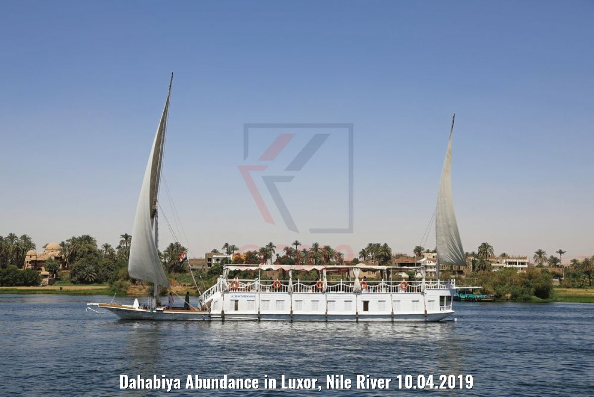 Dahabiya Abundance in Luxor, Nile River 10.04.2019