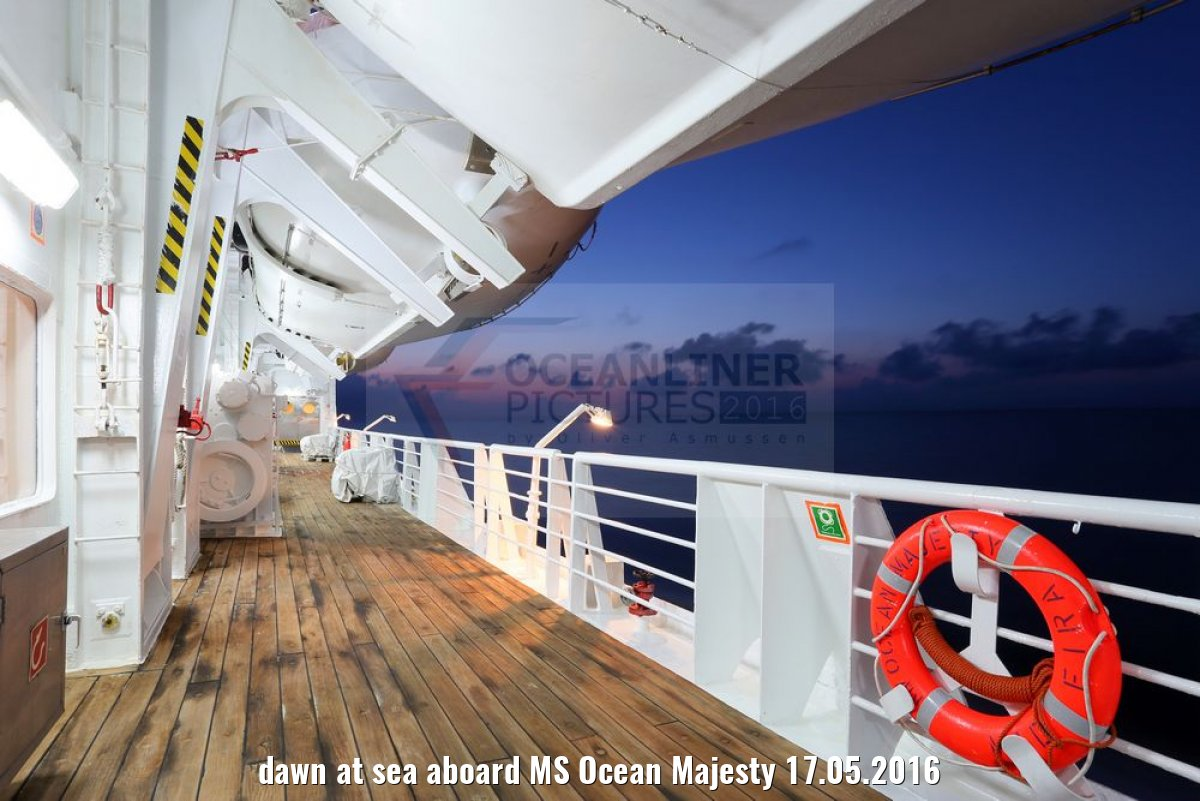 dawn at sea aboard MS Ocean Majesty 17.05.2016