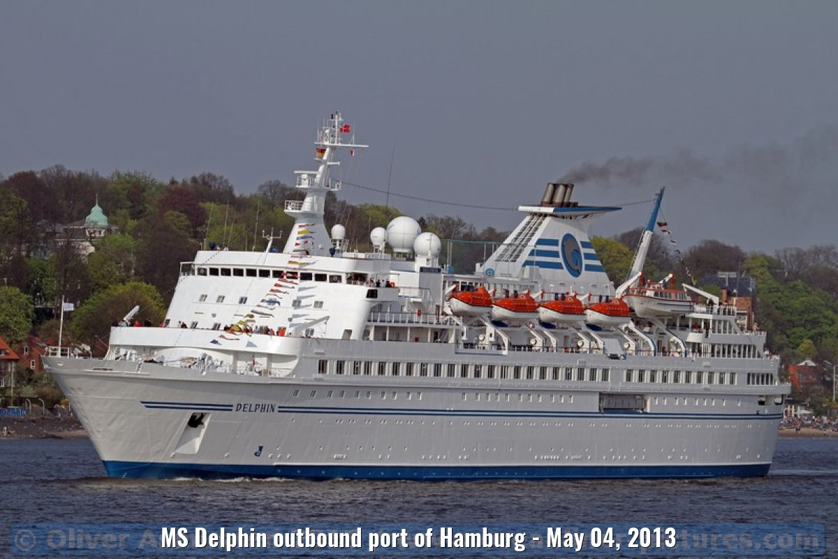 MS Delphin outbound port of Hamburg - May 04, 2013