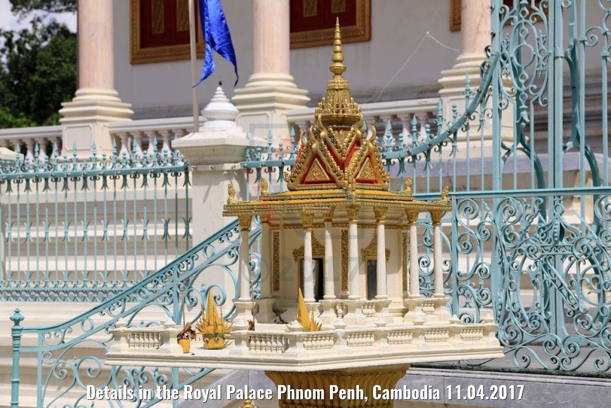 Details in the Royal Palace Phnom Penh, Cambodia 11.04.2017