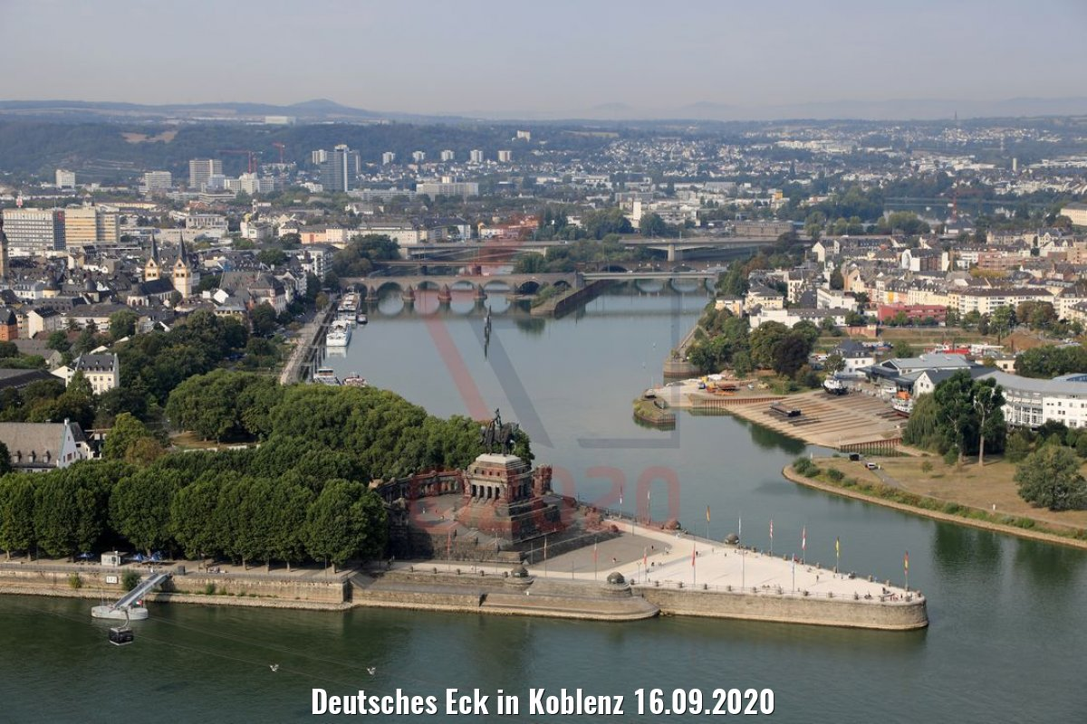 Deutsches Eck in Koblenz 16.09.2020