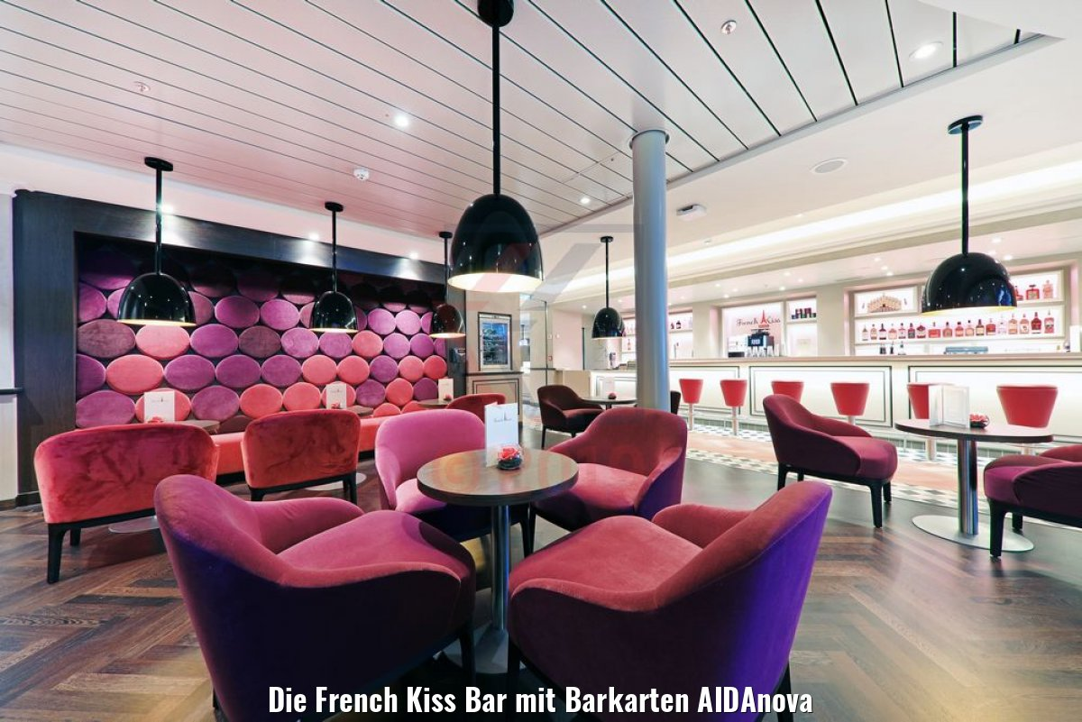 Die French Kiss Bar mit Barkarten AIDAnova