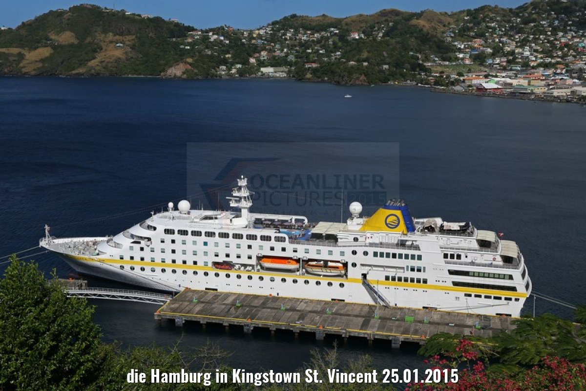 die Hamburg in Kingstown St. Vincent 25.01.2015
