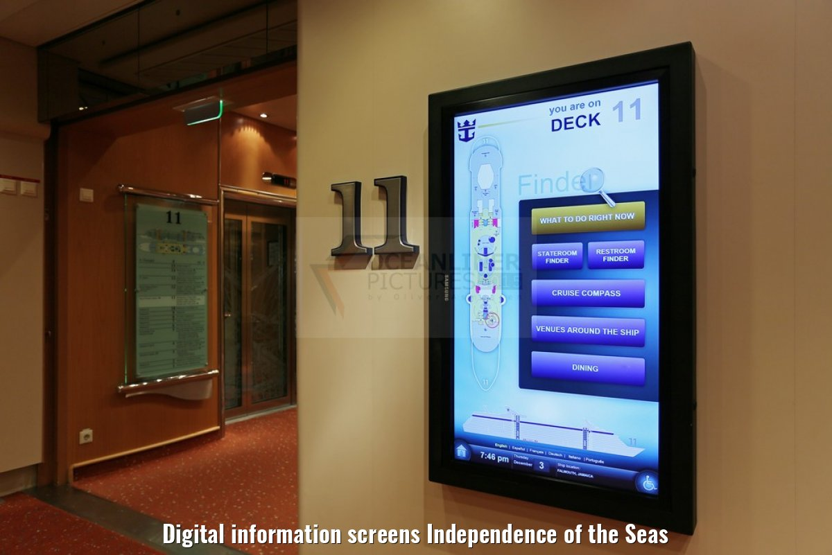 Digital information screens Independence of the Seas