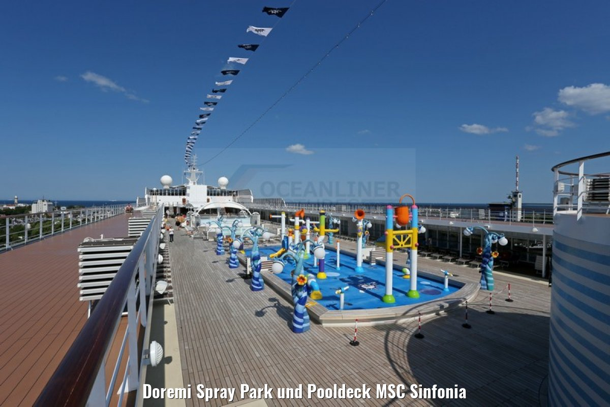 Doremi Spray Park und Pooldeck MSC Sinfonia