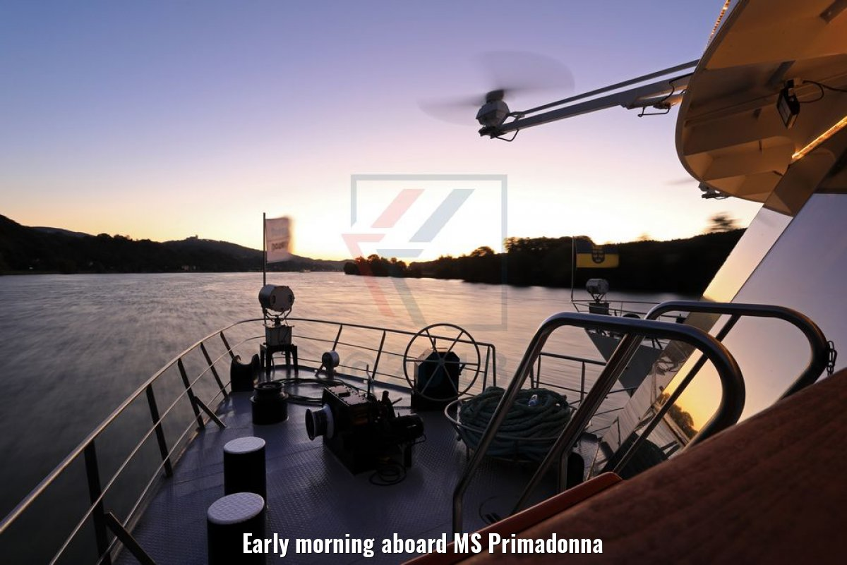 Early morning aboard MS Primadonna