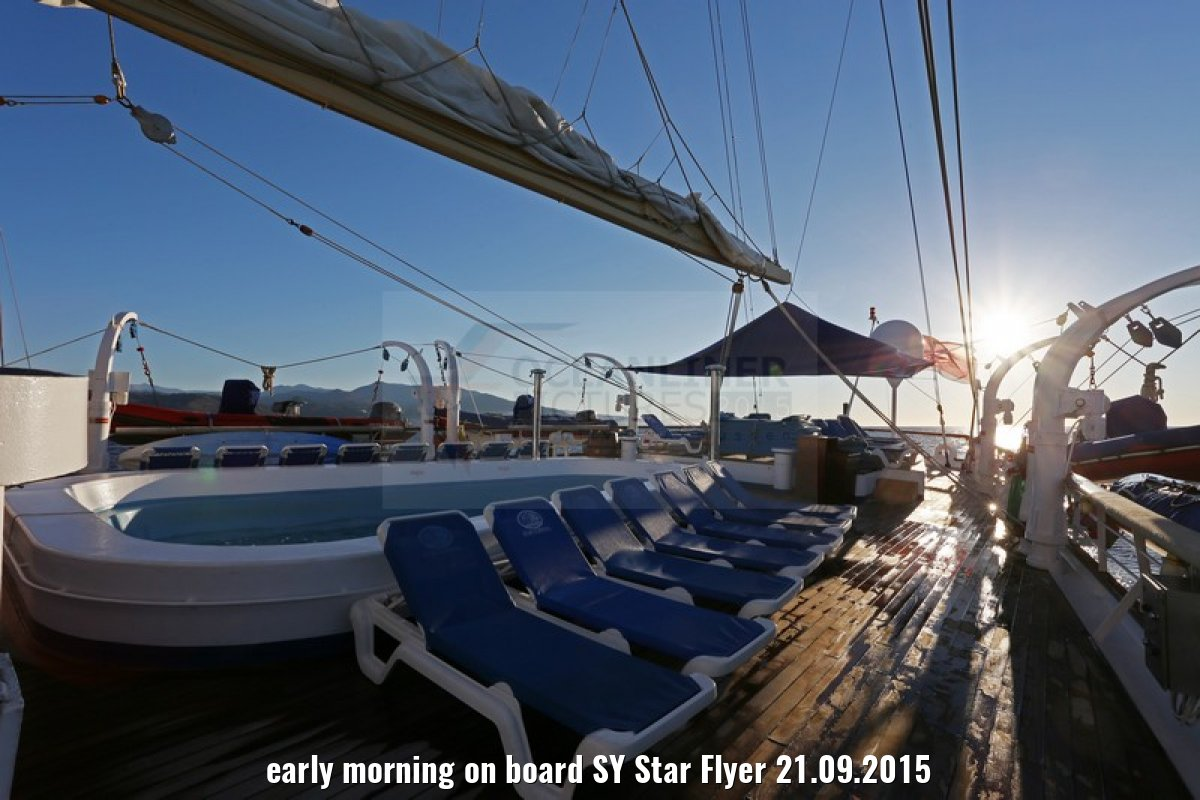 early morning on board SY Star Flyer 21.09.2015