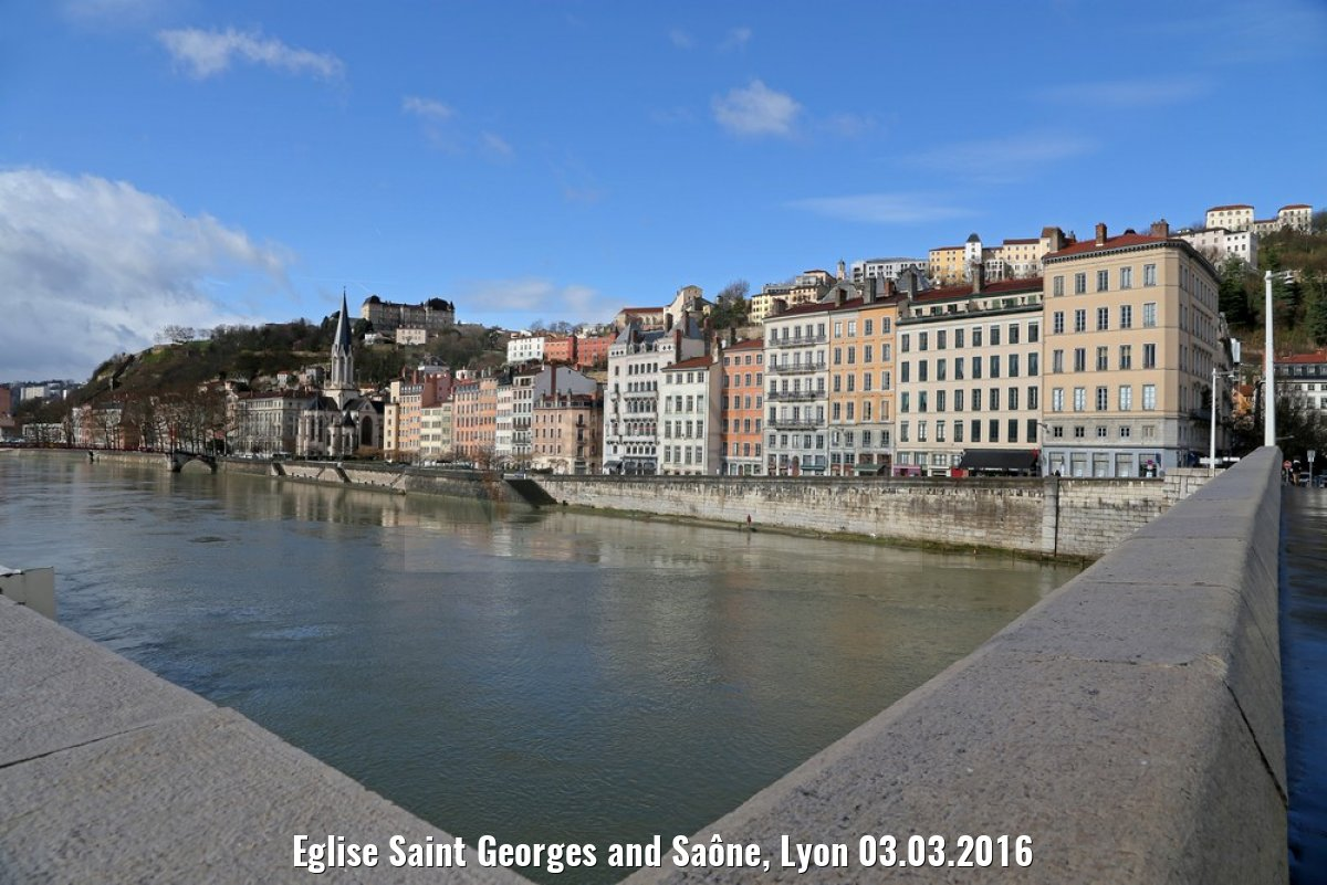 Eglise Saint Georges and Saône, Lyon 03.03.2016