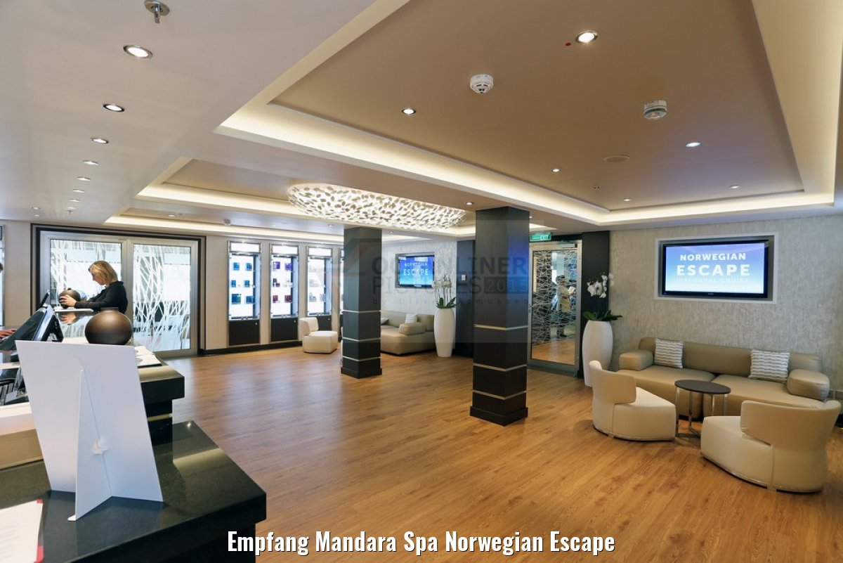 Empfang Mandara Spa Norwegian Escape