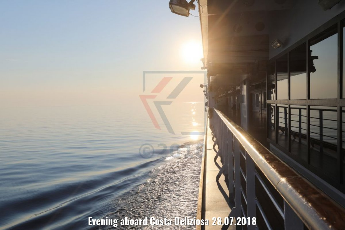 Evening aboard Costa Deliziosa 28.07.2018