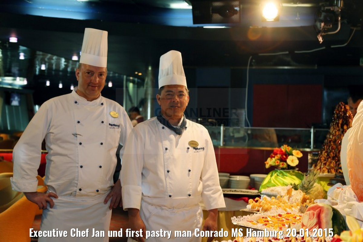 Executive Chef Jan und first pastry man Conrado MS Hamburg 20.01.2015
