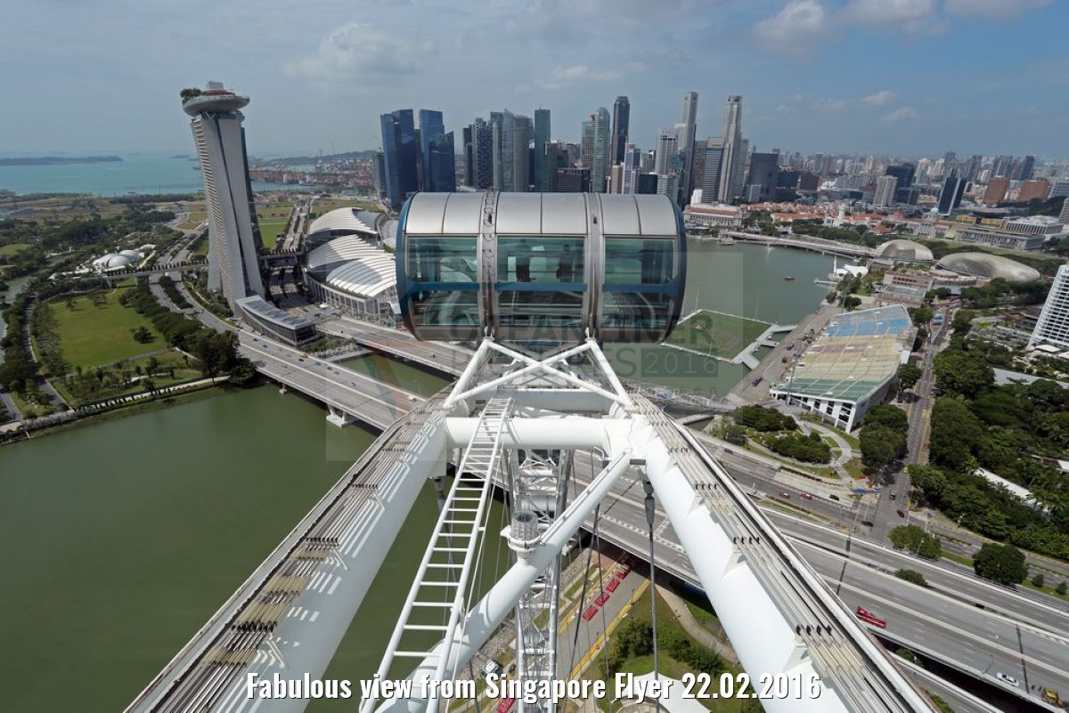 Fabulous view from Singapore Flyer 22.02.2016