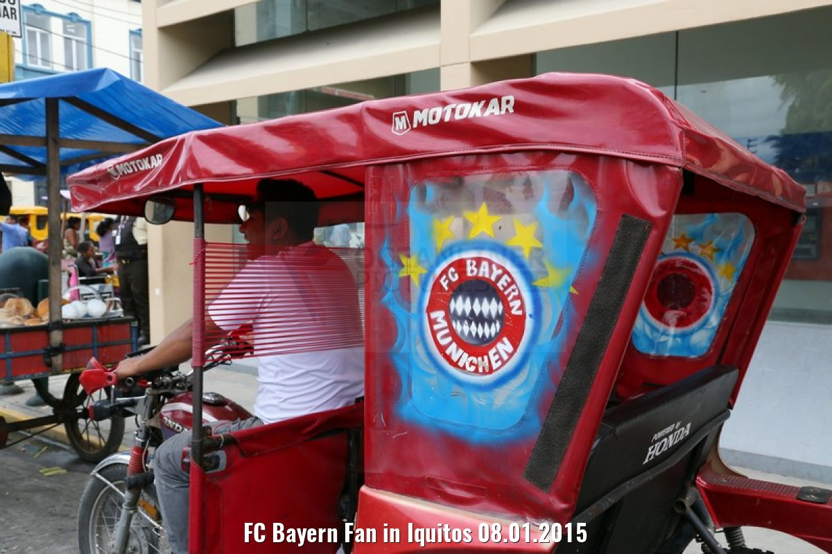 FC Bayern Fan in Iquitos 08.01.2015