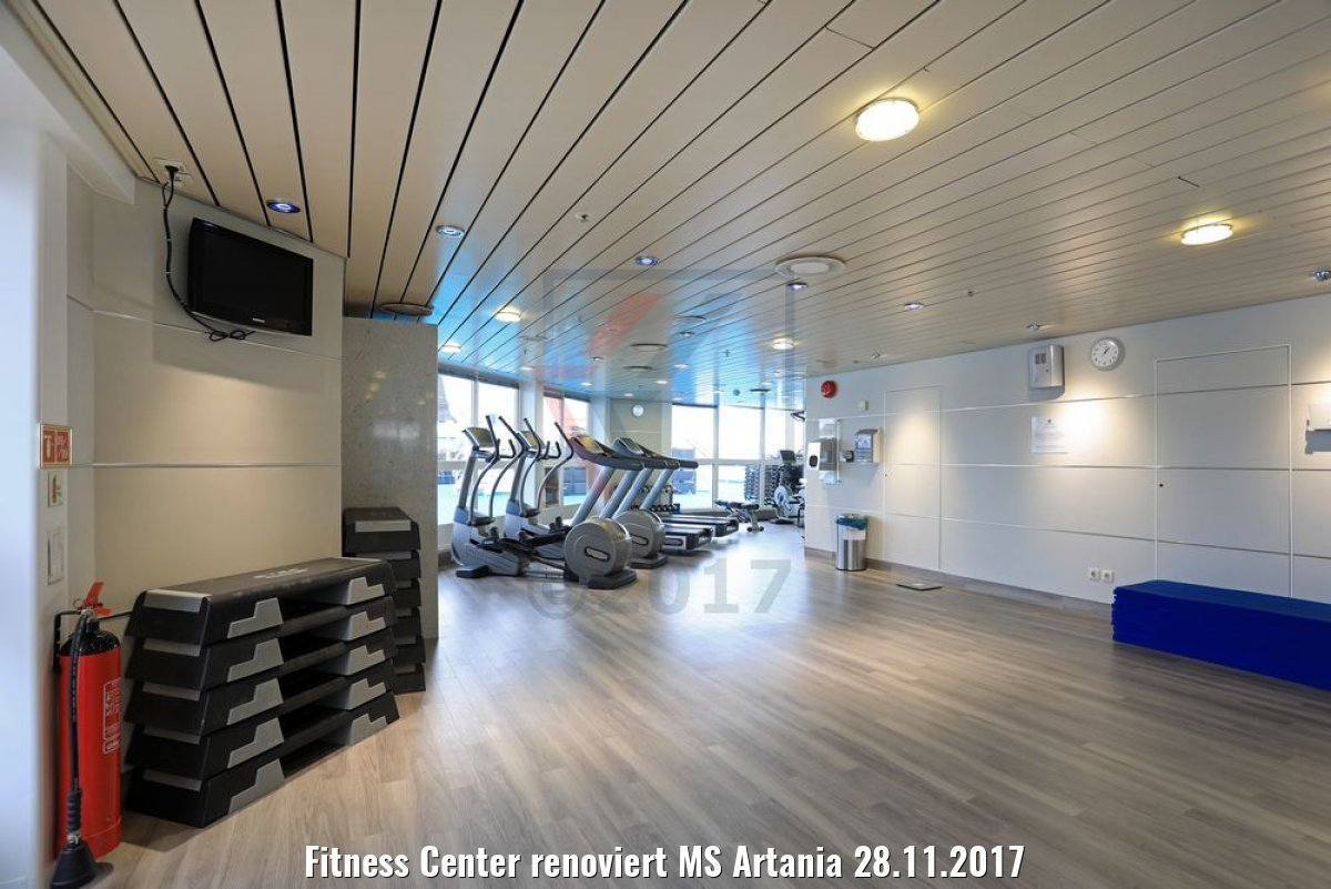 Fitness Center renoviert MS Artania 28.11.2017