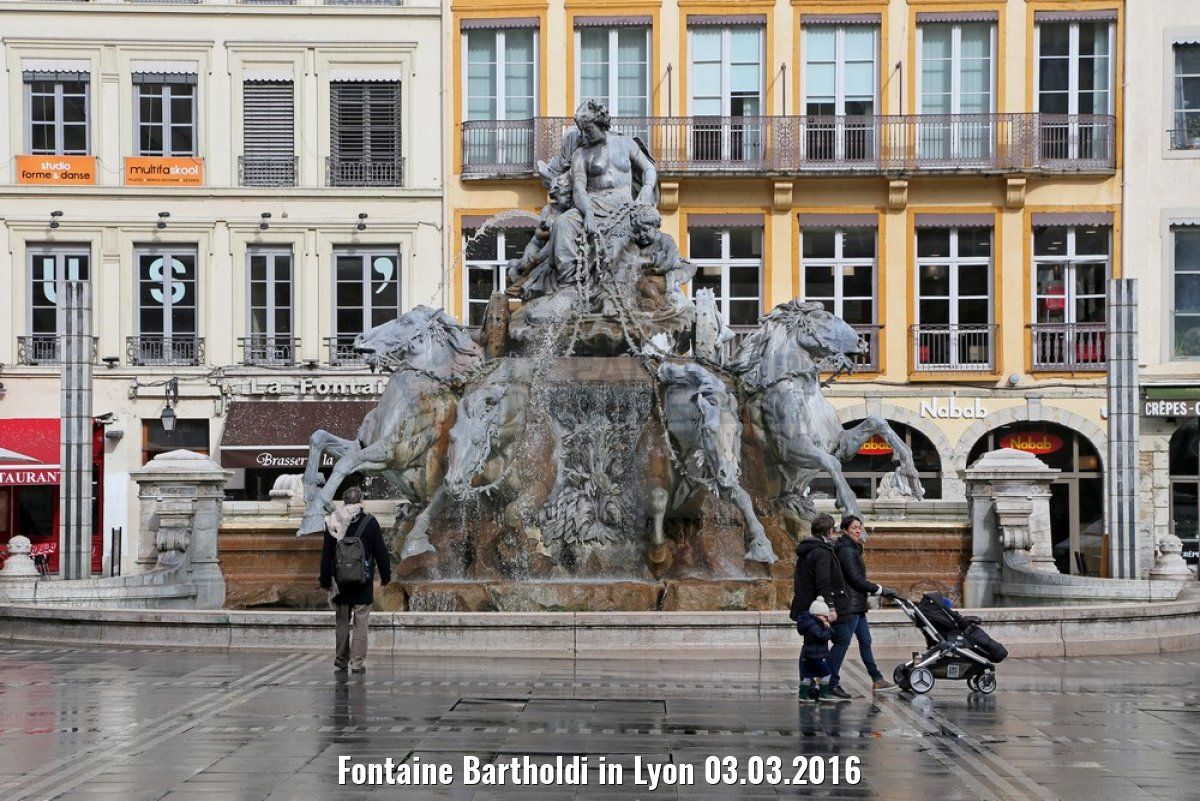 Fontaine Bartholdi in Lyon 03.03.2016