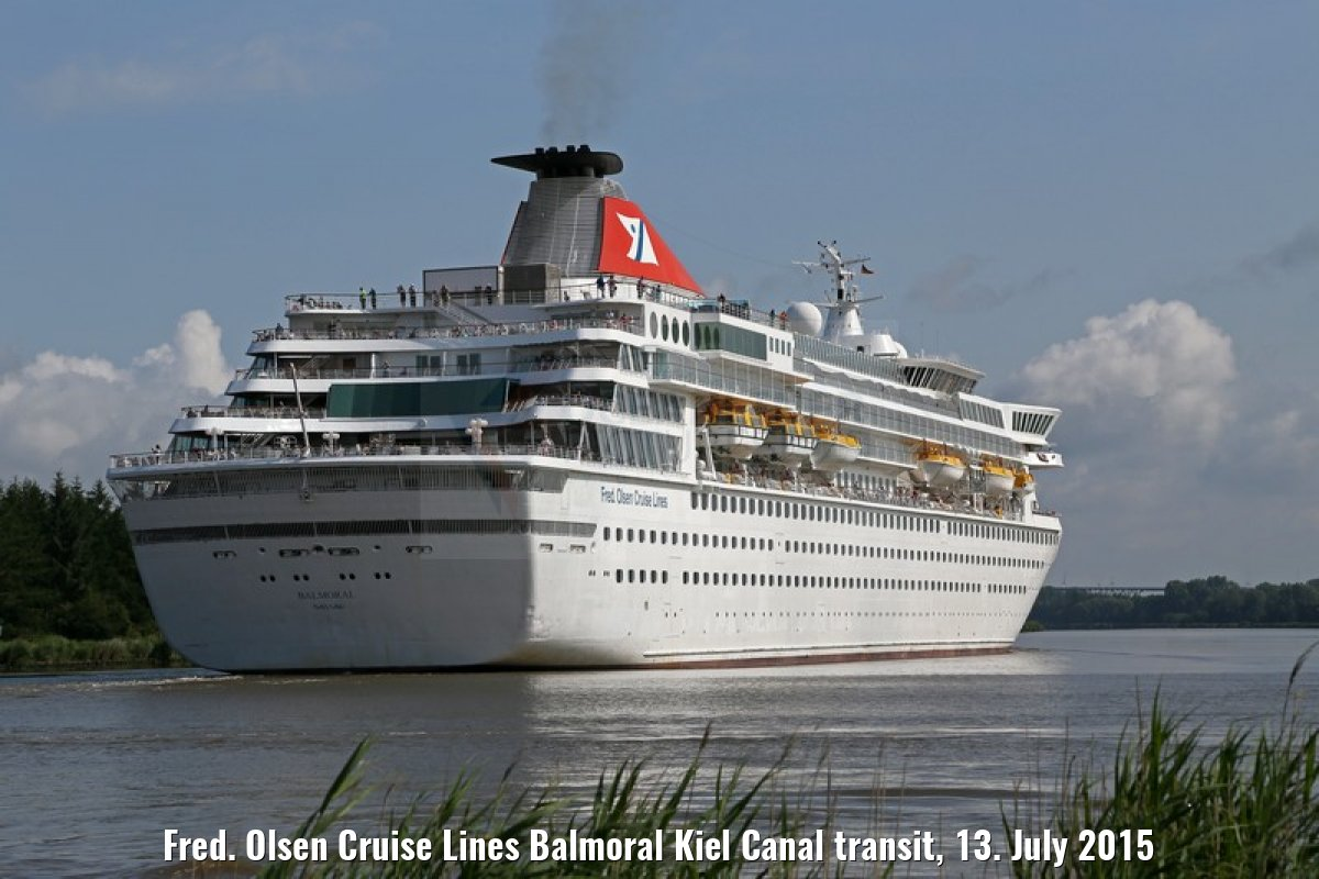 Fred. Olsen Cruise Lines Balmoral Kiel Canal transit, 13. July 2015