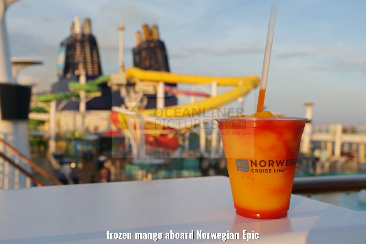 frozen mango aboard Norwegian Epic