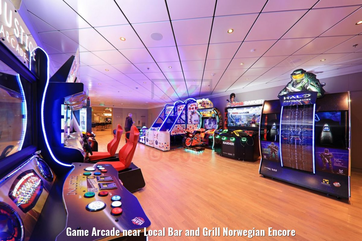 Game Arcade near Local Bar and Grill Norwegian Encore