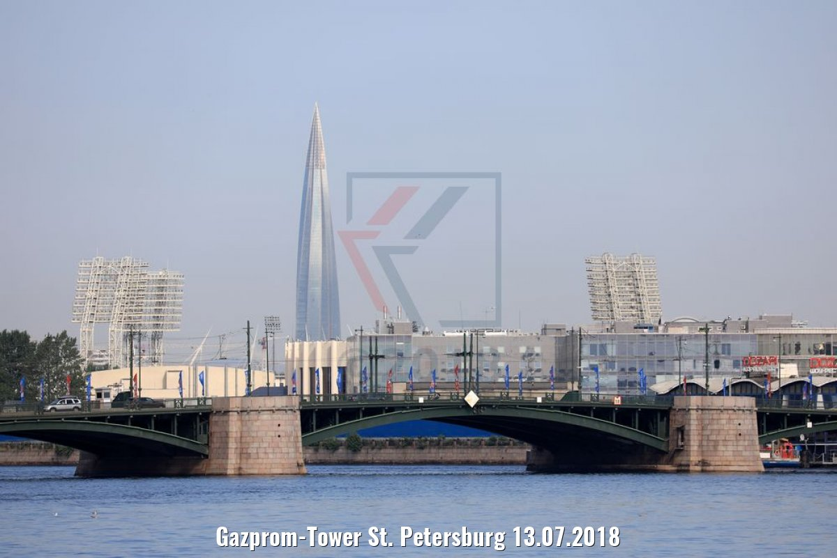 Gazprom-Tower St. Petersburg 13.07.2018