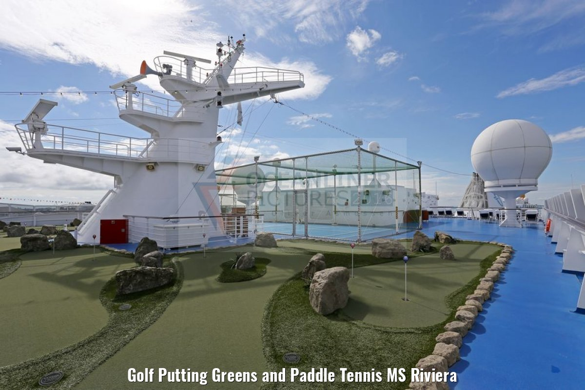 Golf Putting Greens and Paddle Tennis MS Riviera