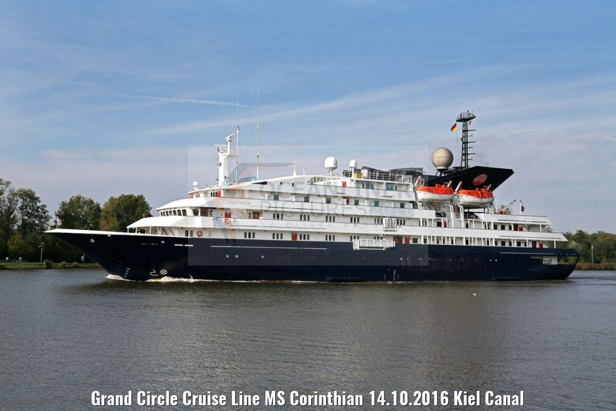 Grand Circle Cruise Line MS Corinthian 14.10.2016 Kiel Canal