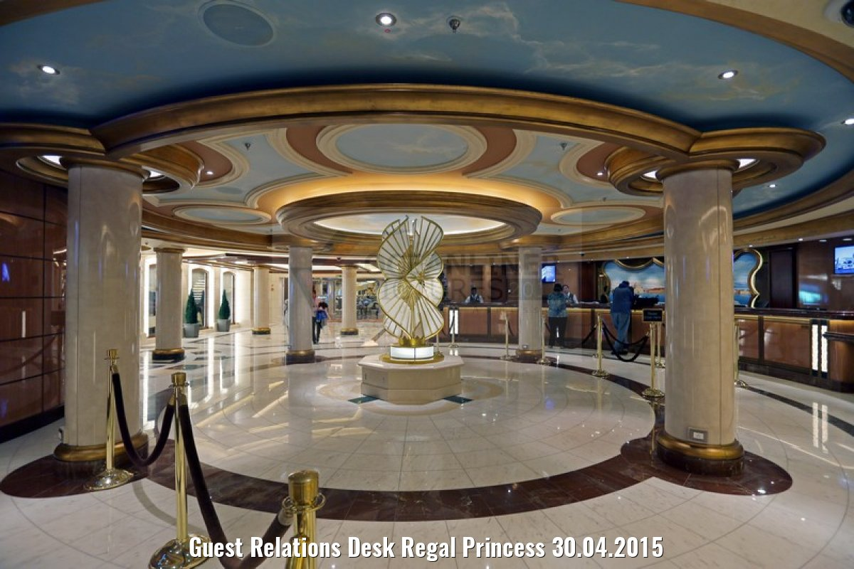 Guest Relations Desk Regal Princess 30.04.2015