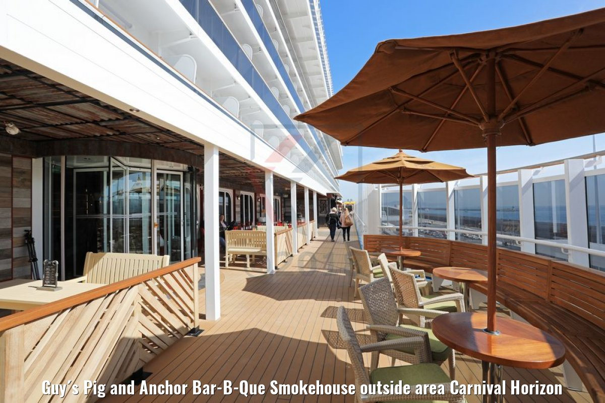 Guy´s Pig and Anchor Bar-B-Que Smokehouse outside area Carnival Horizon