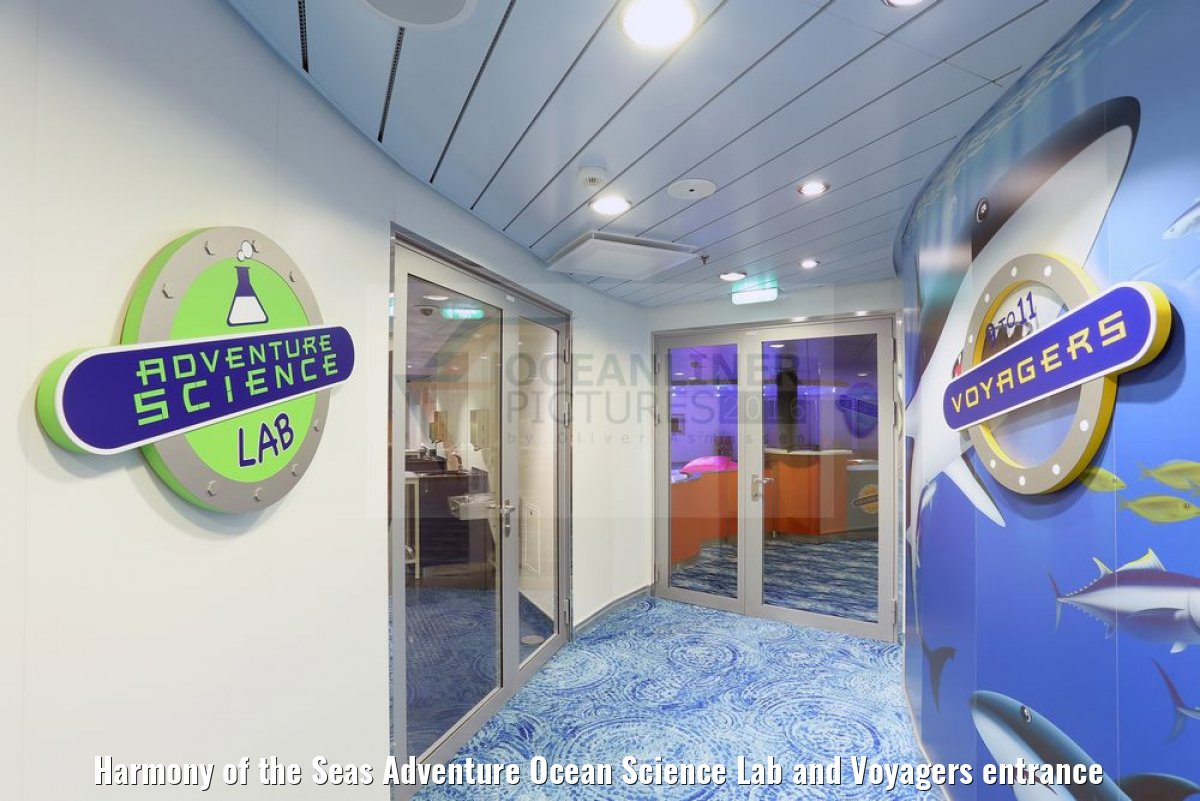 Harmony of the Seas Adventure Ocean Science Lab and Voyagers entrance