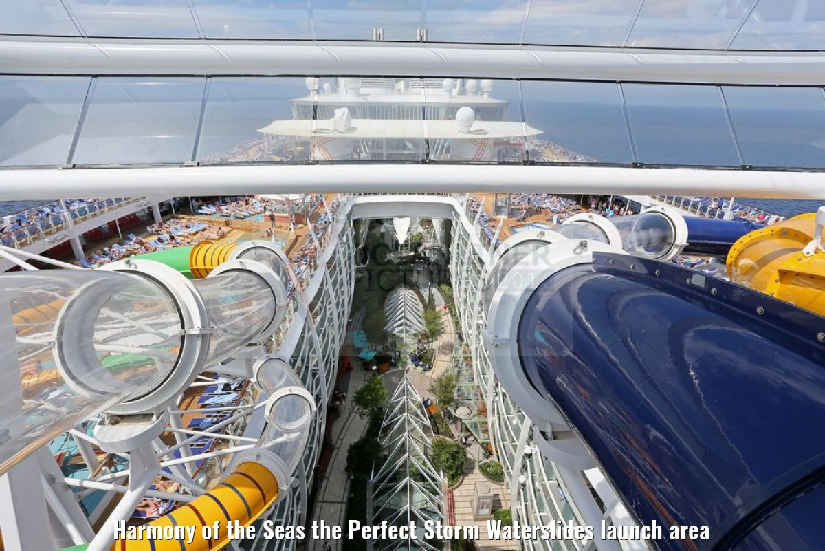 Harmony of the Seas the Perfect Storm Waterslides launch area
