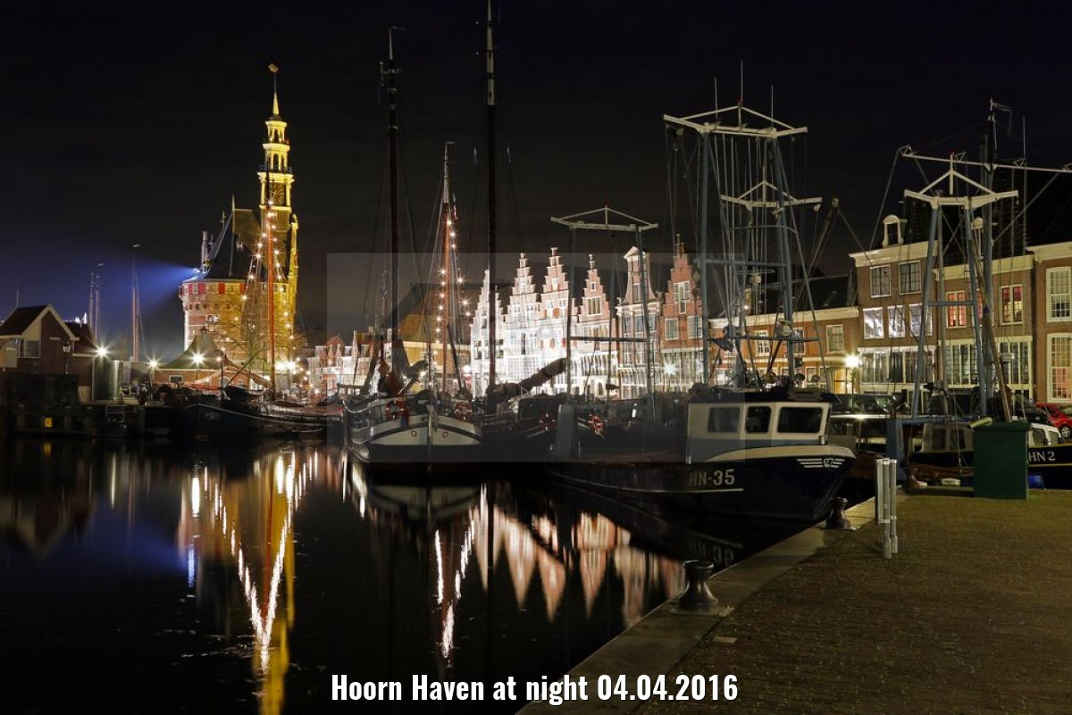 Hoorn Haven at night 04.04.2016