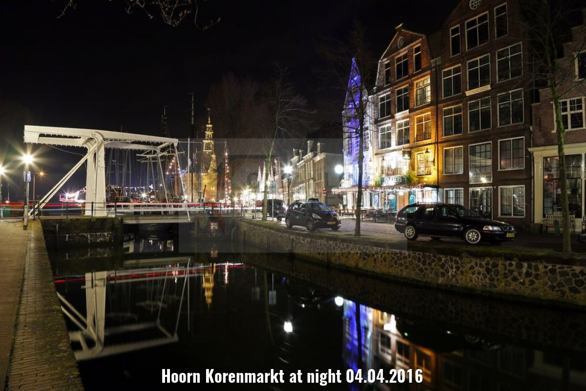 Hoorn Korenmarkt at night 04.04.2016